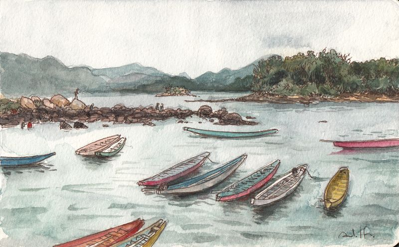 Dragon boats at sai kung